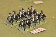 25mm napoleonic french light cavalry 11 cavalry (7529) painted metal