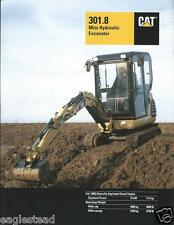 Equipment Brochure - Caterpillar - 301.8 - Mini Hydraulic Excavator 2000 (E2634)