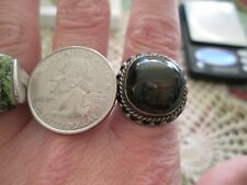 Vintage Sterling Silver Great Ring with Beautiful Stone Labradorite Size 5.5