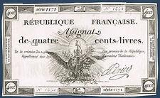 FRANCE - ASSIGNAT. 400 LIVRES Mus 47. du 21-11-1792. en SUP  N 1552 Serie 1171