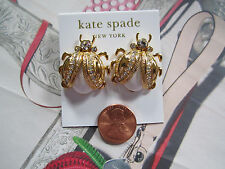 Kate spade New York Earrings Pave 14K Gold Fill Ladybug Caladonia NEW