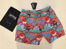 New w Tags & Bag Authentic Vilebrequin Moorea Multicolor Swim Trunks - Men L