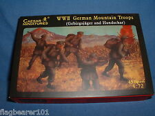 CAESAR SET #67 WWII GERMAN MOUNTAIN TROOPS - 1/72 SCALE UNPAINTED FIGS X 45