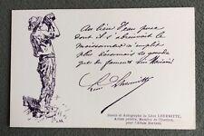 CPA. Album MARIANI. Illustrateur Léon LHERMITTE. Dessin et Autographe. La