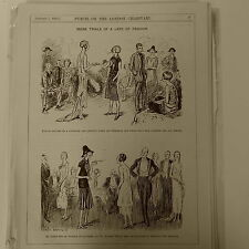 """7x10"""" punch cartoon 1925 MORE TRIALS OF A LADY OF FASHION chelsea st johns wood"""