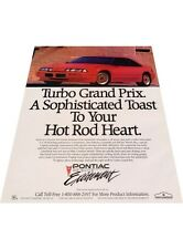 1989 Pontiac Turbo Grand Prix - Vintage Advertisement Car Print Ad J401