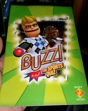 BOOKLET/MANUAL ONLY FOR BUZZ THE SPORTS QUIZ PS2 (NO GAME) -  FREE POST