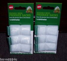 6 NEW EARTHWISE REUSABLE MESH PRODUCE BAGS - PERFECT FOR FRUITS & VEGETABLES