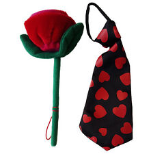 """Red Rose and Heart Tie Teddy Bear Clothes Fits Most 14""""-18"""" Build-A-Bear n More"""