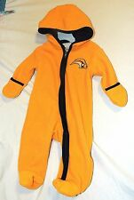 Unisex Baby Snowsuit Buffalo Sabres NHL Hockey Hooded Size 0-3 Month Yellow