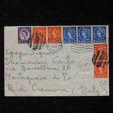 ZS-AA124 GB QEII COVERS - 1963, From Paddington To Martignana Di Po Italy