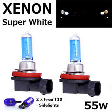 H11 55w SUPER WHITE XENON (711) UPGRADE Headlight Bulbs 12v + T10 W5W sidelights