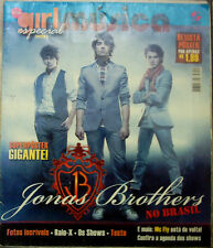 JONAS BROTHERS IN BRAZIL MAGAZINE NICE PHOTOS POSTER FEATURES BIO DISCOGRAPHY