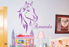 Personalized Your Own Name Horse Pony Home Bedroom Wall Stickers Decals Vinyl
