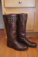 SENDRA 9177 brown studded riding boots size 7W (BO100)