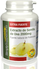 Simply Supplements Extracto de Semilla de Uva 2000mg | 360 Comprimidos (E371)