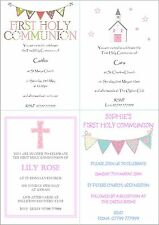 Personalised Girls First 1st Holy Communion Invitations / Thank You Cards
