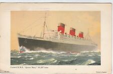 """1933  CUNARD R.M.S, """"QUEEN MARY""""  81,237 TONS  6 1/2"""" BY 4"""""""" IN  FN CONDITION"""