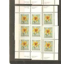 pk22686:Stamps-Canada #708 Canada Lily 3 cent Set of Plate Blocks-MNH