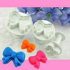 NEW 3PC Butterfly Shape Plunger Modelling Sugarcraft Cookie Cutters Pastry Mold