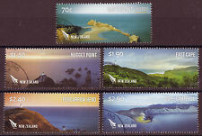 NEW ZEALAND 2013 COASTLINES SET OF 5 FINE USED
