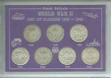 The WWII Years Florins of World War Two II 1939-1945 Florin Cased Coin Gift Set