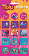 2 Packs x 15 Trolls Felt Stickers for Scrapbooking Bags Pencil Cases Books