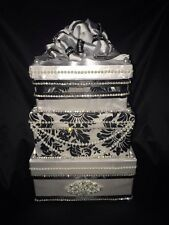 Wedding Money Box/ card box/ Money Gift Box/ Wedding Box Black and White