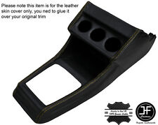 YELLOW STITCHING CENTRE CONSOLE LEATHER COVER FITS VW GOLF MK1 JETTA CABRIO