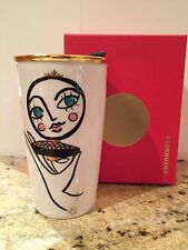 2015 Starbucks Blusher Double Wall Ceramic Traveler Tumbler Mug 12 oz. NEW