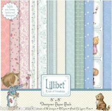 DOVECRAFT LILLIBET DESIGNER PAPERS - 8 X 8 SAMPLE PACK  1 SHEET OF 12 DESIGNS