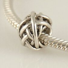 WIRE BALL- Tangle- Weave - Genuine Solid 925 sterling silver European charm bead