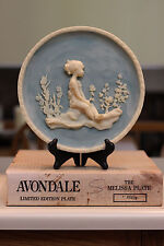 """Autographed 1978 Avondale """"Melissa"""" Plate By Francis Taylor Williams"""