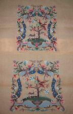 EP 830 Vintage Jacobean Tree of Life Chair Seat Set Needlepoint Canvas