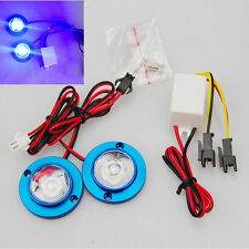 High Power 2 LED Lights Emergency Warning Lights Flashing with Controller Blue
