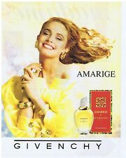 PUBLICITE ADVERTISING 104 1991 GIVENCHY Amarige eau de toilette