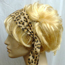 ANIMAL PRINT CUTE HANDMADE HEADBAND HAIR SCARF SELF TIE BOW VINTAGE STYLE 128