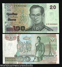THAILAND 20 BAHT P109 2002 KING BHUMIBOL *COMMEMORATIVE* UNC CURRENCY MONEY NOTE