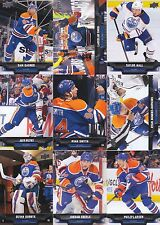 2013-14 Upper Deck Edmonton Oilers Complete Series 1 & 2 Team Set 12 Cards