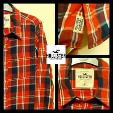 """Men's """"Hollister""""  Long Sleeve Shirt In A Red Check.  Great Condition. Medium"""