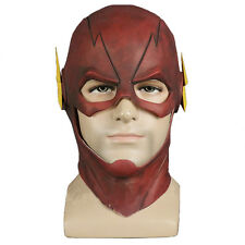 The Flash Barry Allen Helmet Full Face Mask DC Superhero Cosplay Latex Toy Props