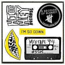 Parche imprimido, Iron on patch /Textil sticker/- SOS, 5 Seconds of Summer, C