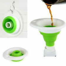 Mini Silicone Gel Practical Foldable IC Funnel Good Collapsible Kitchen Tool