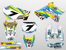 KIT ADESIVI GRAFICHE GAMBLING YELLOW SUZUKI RM 125 250 2002 - 2008 DEKOR DECALS