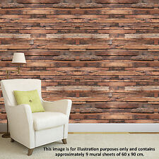 UK Removable Timber Strips Furniture Stickers Pattern Self Adhesive wallpapers