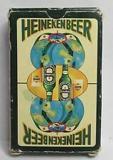 older 1960's HEINEKEN BEER deck of playing cards with box