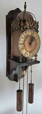 LANTERN Wall Clock 1978 Hermle Chain Driven Pendulum Wood Wall Mount English