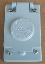 New Appleton FSKWT2 Single Aluminum Receptacle Cover for Toggle Switch