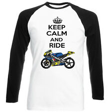 APRILIA RS 250 1998 KEEP CALM AND RIDE - NEW COTTON TSHIRT - ALL SIZES IN STOCK