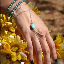 Silver Slave Bronze Multi Bracelet Bangle Chain Link Finger Rings Hand Harness